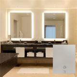Espelho grande quadrado do banheiro do tamanho do espelho de vaidade do diodo emissor de luz do banheiro do hotel