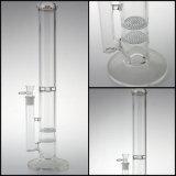 卸し売り水ぎせるの煙ることのためのガラス配水管から成っている厚い三重の蜜蜂の巣のPercガラス