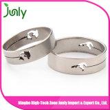 Nuevas mujeres del anillo del dedo anular del acero inoxidable del diseño