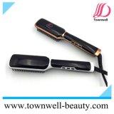 Cepillo del enderezador del pelo del LCD con la función iónica