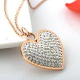 Шкентель сердца диаманта ожерелья популярных ювелирных изделий способа женщин длинний
