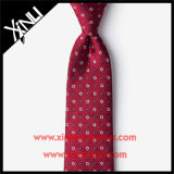 Bindet Silk Jacquardwebstuhl gesponnenes dünnes Rot Form für Männer
