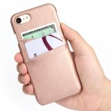 el sostenedor de la tarjeta de crédito de la identificación del iPhone 6 ranura la caja protectora a prueba de choques