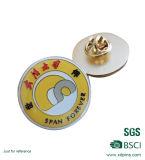 Pin отворотом эмали логоса пчелы золота металла мягкий