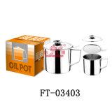 Acero inoxidable con la taza de petróleo del filtro (FT-03403)