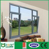 Ventana de aluminio ahorro de energía de la vuelta de la inclinación del perfil con el vidrio Tempered