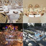 Cadeira do banquete da mobília do metal do ouro de Rosa do hotel do projeto moderno com coxim do plutônio