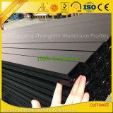 Extrudés en aluminium de mur rideau avec profil anodisé Balck Aluminium Extrusion