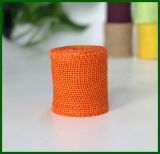 Rodillo coloreado del paño de la arpillera del yute (anaranjado)