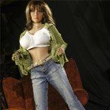158cm TPE Realistic Silicone Love Sex Doll para homens