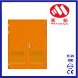 Puerta cortafuego de acero con la puerta doble, colorida