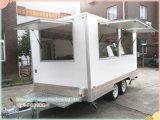 Acoplado Re-Enforced vidrio del café del acoplado del carro del alimento del panel de Ys-Fb390c