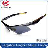 Glaces de recyclage de sport de Guanghzou de collocation classique faite sur commande bon marché de lunettes de soleil