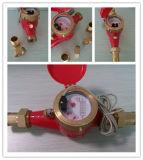 Contador del agua de salida de pulsos de agua caliente