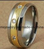 Ring van de Juwelen van het Lichaam van het Titanium van de Juwelen van Shineme 18k de Gouden (TR1822)