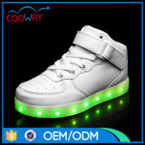 [سبورتس] [هوت-سلّينغ] أبيض صاف [لد] أحذية إرتفاع قطعة [لد] أحذية