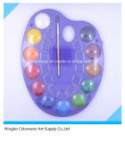 bolo da cor de água da alta qualidade das cores 2.5cm*12 para miúdos e estudantes