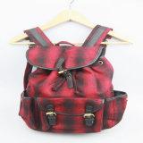 Le sac à dos de mode de dames, mode a contrôlé le sac à dos de femmes de tissu de configuration