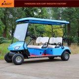 Carrello di golf elettrico di vendita 4 del veicolo elettrico caldo di Seater per il terreno da golf ed il club di golf