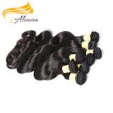 Remyの毛の織り方の卸売の加工されていないバージンのペルーの人間の毛髪の拡張