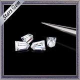 Diamante claro de Moissanite del corte del punto negro de la forma cónica del blanco 6*4m m