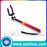 Mini palillo atado con alambre de Selfie palillo plegable Selfie del cable 2016