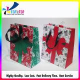Bolso plegable al por mayor del regalo del papel de la Navidad del OEM