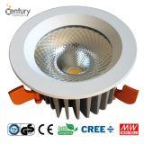 크리 사람 옥수수 속 LED와 Philips SMD LED를 가진 15~40W 95~200mm 배기판 LED Downlight 보장 3 년