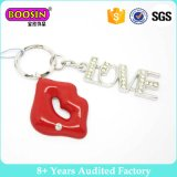 Изготовленный на заказ шкентель Keychain формы губы металла высокого качества