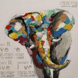 近代美術のクラフト装飾的な動物の油絵