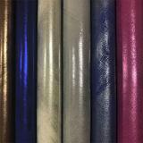 Couro colorido de Upholstery do PVC do plutônio do projeto 2017 o mais novo para as sapatas (E6084)