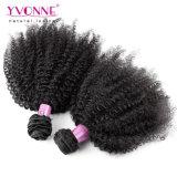 Соткать человеческих волос Kinky курчавой девственницы Afro бразильский