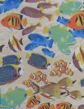 tessuto del poliestere di stampa dei pesci di 600d Oxford con il PVC