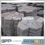 Gray / Black / Yellow Mesed Slate Net Flagstone para pavimentação ao ar livre Azulejos