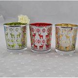 Vela perfumada de la Navidad de la soja de la mariposa en la venta al por mayor de cristal del tarro