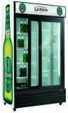 Schiebetür-vertikaler Bildschirmanzeige-Kühlraum mit dem dynamischen Kühlsystem hergestellt in China