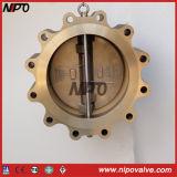 C95800 Albronzeのラグナットのタイプ二重版の振動小切手弁