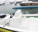 Barco de pesca del casco de la fibra de vidrio FRP de la venta caliente 22 '