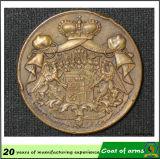 Emblema do metal do emblema do emblema 3D do ouro