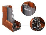 Раздвижные двери двойной застеклять доказательства звука и жары алюминиевые