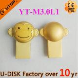2016 новый золотистый привод вспышки металла USB2.0/3.0 обезьяны (YT-M3.0L)