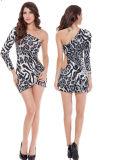 ミルクのファイバーのヒョウLadies ナイトクラブのためのセクシーなUnderwearsは26703に着せる