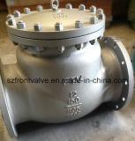 Литая сталь Wcb служила фланцем задерживающий клапан качания конца