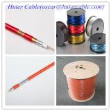 Cable coaxial puro del cobre RG6 del 100%