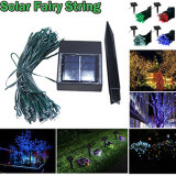 Luz de hadas de la cadena de la Navidad de energía solar