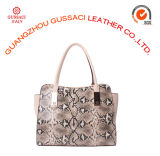 Borsa reale della cartella delle donne del cuoio del serpente di moda del progettista (GUS14D-050-1)
