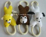 Giocattolo dell'animale domestico dell'animale farcito della peluche del giocattolo del cane della corda