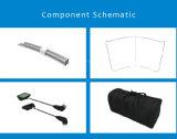 Basamento portatile di mostra del tessuto di tensionamento, banco di mostra, basamento della bandiera (KM-BSH)