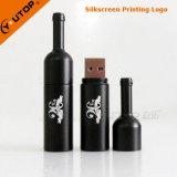 USB feito sob encomenda Pendrive do frasco de vinho vermelho do metal do logotipo do presente da adega (YT-1216-02)