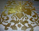 Azulejo de mosaico de cristal de oro cristalino brillante para la pared y el piso